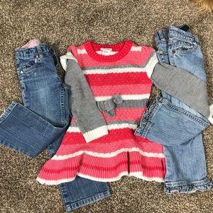 3T Jeans: Levi's, Place/Little Lass sweater dress